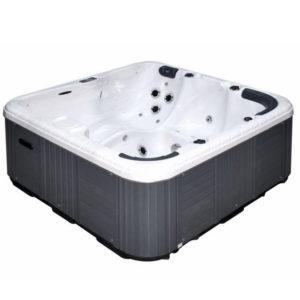 Le spa refresh est l'un de nos spas les plus populaires. Le Refresh est un spa spacieux pour 5 personnes combinant un banc, un siège-baquet et une place en position allongée