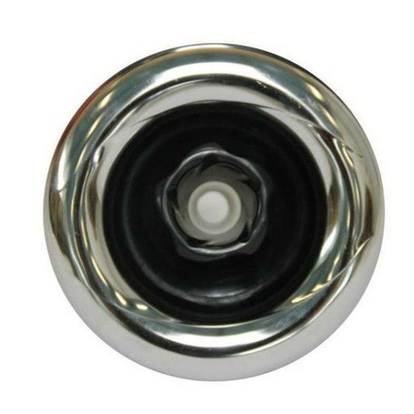 jet lisse réglable pour massage tournant de la marque passion, présenté en chrome noir
