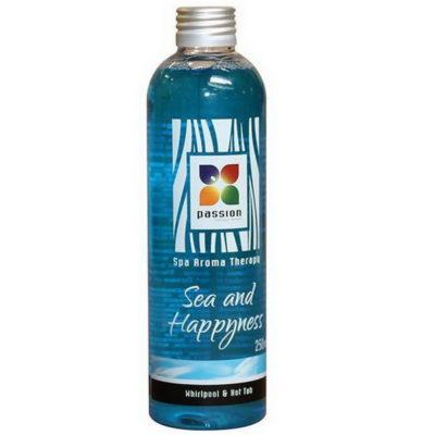 Parfum Mer et bonheur pour parfumer l'eau de votre spa .Une senteur qui rappelle les vacances , la farniente, le ciel bleu et les coquillages!