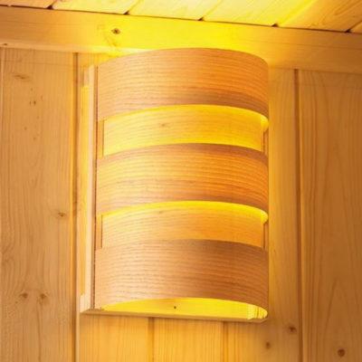 Lampe + abat-jour pour une lumière intérieure douce dans votre sauna