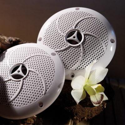 Haut-parleurs sauna 30 W Karibu pour saunas et cabines infrarouges, résistants à la température jusqu'à 110 ° C, aux UV