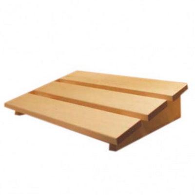 Appui tête sauna Karibu classique en tremble, bois qui ne prend pas la chaleur . Permet de caler sa tête pour une relaxation totale lors d'une séance sauna