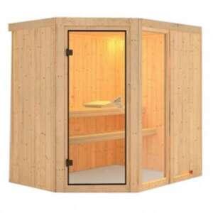 Sauna fiona1 : un sauna qui fait entrer la tradition finlandaise dans votre intérieur. Il allie esthétique et plaisir de prendre soin de soi avec une maitrise parfaite de la chaleur.