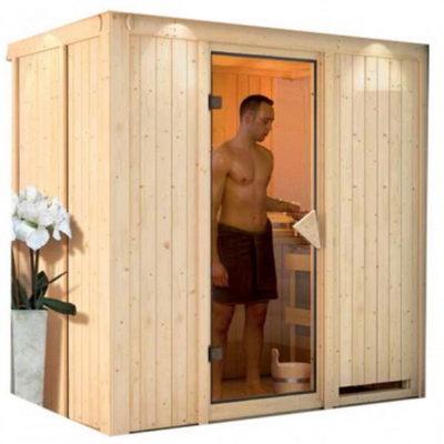 Sauna variado : un sauna qui fait entrer la tradition finlandaise dans votre intérieur. Il allie esthétique et plaisir de prendre soin de soi avec une maitrise parfaite de la chaleur.