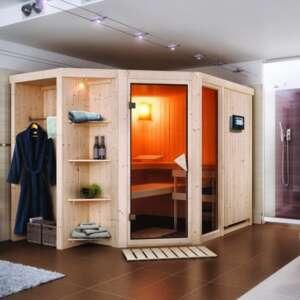 Sauna Yaro : un sauna d'intérieur dans la plus pure tradition finlandaise. Son design permet une intégration facile dans votre intérieur.