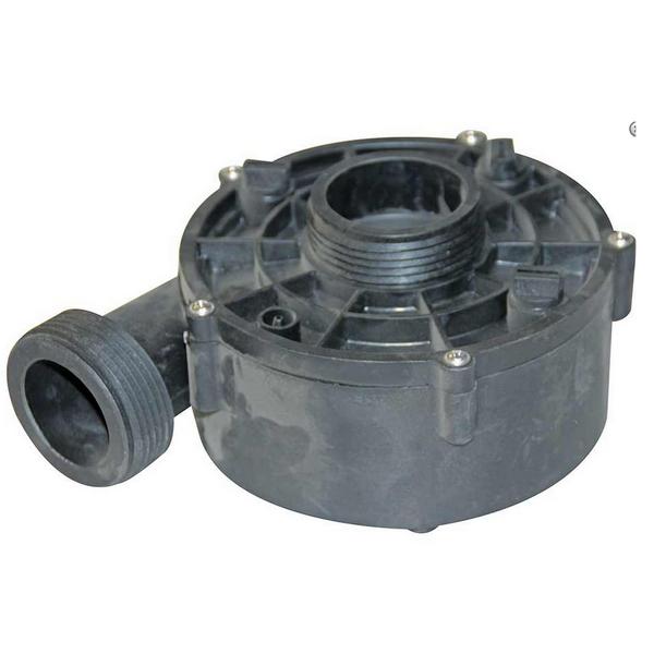 Turbine + garniture mécanique : ce corps de pompe est spécifique au modèle WTC50M du fabricant LX Whirlpool qui équipe de nombreux spa. Il dispose d'une aspiration centrale et d'un refoulement latéra