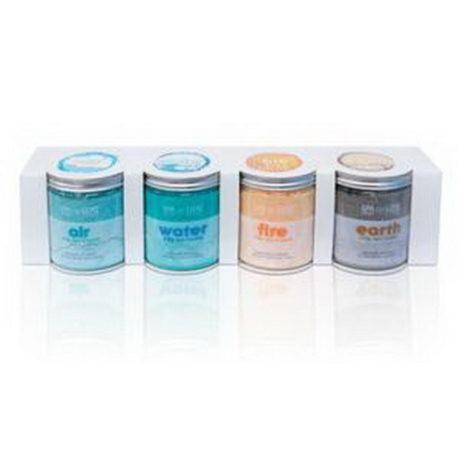 4 pots de cristaux aquafinesse  parfumés