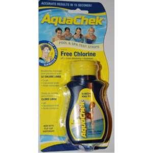 Aquachek Test :  50 bandelettes test pour chlore libre, de l'acide cyanurique, du pH et de l'alcalinité totale pour votre spa ou votre piscine