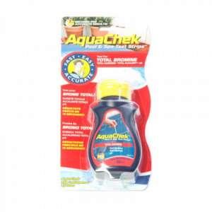 Aquachek Test Red: bandelettes test  pour analyser le Brome total, le pH, l'alcalinité totale et la dureté totale de l'eau dans votre piscine ou dans votre spa.
