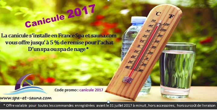 canicule 2017 spa et sauna.com vous offre jusqu'à 5 % de remise pour l'achat d'un spa ou spa de nage