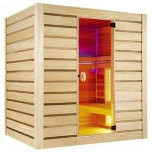Comme tous les sauna Holl's, l' hybrid combi révolutionne la pratique du sauna avec des séances vapeur ou infrarouge avec rayonnements à Quartz.